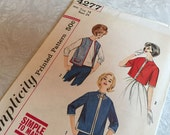Simplicity 4277 Misses Set of Jackets Size 14 Bust 34 1960s