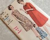 Vogue 5619 Maternity Dress Pattern Size 16 Bust 36 Hip 38 1960s