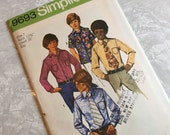 Simplicity Pattern 9693 1971 Boys Shirt and Tie Size 7 Uncut