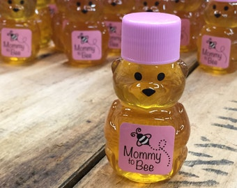 Baby Shower Honey Bear Favors Pink and Blue Mommy to Bee