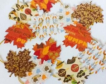 Handmade Maple leaf Garland - Thanksgiving decoration, 5 ft adjustable garland, fall leaf garland, autumn garland, paper leaves- Wcards