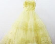 1940s Belle Beauty & the Beast Costume Tulle Debutante Dress