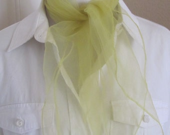 Solid Yellow Sheer Nylon Scarf Square - Affordable Scarves!!! Why Pay More! (30A)