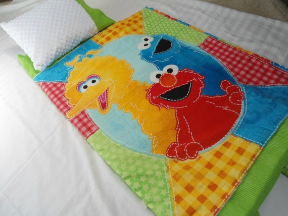 Nap Mat Sesame St Big Bird Elmo Preschool Toddler Kindergarten