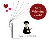 School mini Valentine cards, Set of 8 Harry Potter, Ron Weasley, Hermoine Granger, Dumbledore