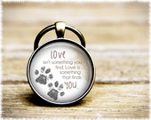 Dog Rescue Keychain • Dog Lover Gift • Dog Adoption Keyring • Cat Lover Keychain • Paw Keychain • Animal Rescue
