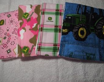 Handmade John Deere Baby Burp Cloths, John Deere Tractor, Tractor, John Deere Baby, Baby Boy, Baby girl