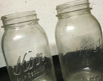 Kerr Jar, Vintage Kerr Jar, Storage Jar, Kerr Canning Jar, Country Kitchen, Farmhouse Kitchen, Canning Jar, Kitchen Storage, Kerr Mason Jar