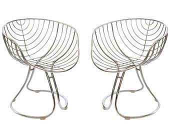 1960s Italian Chrome Pan Am Retro Chairs
