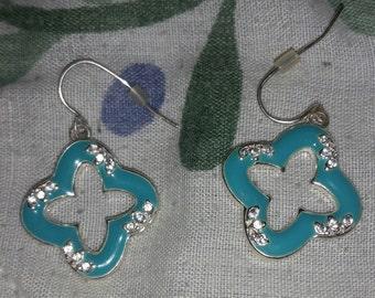 On Sale artisan diamond shaped turquoise earrings