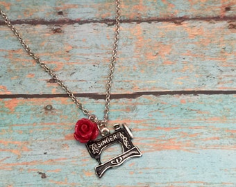 Vintage Singer Sewing Machine Crafty Charm Bracelet