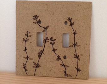 Thyme Switch Plate Cover, Double