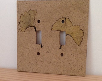 Yellow Ginkgo Switch Plate Cover, Double