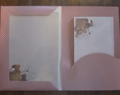 Stationery Set Vintage Letter Writing Paper Note Card Teddy Bear NOS NIP