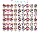 Sugar Skull Stickers - Erin Condren, inkWell Press, Kikki K, Traveler's Notebook, Planner Stickers