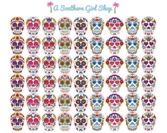 Sugar Skull Stickers - Erin Condren, inkWell Press, Kikki K, Traveler's Notebook, Planner Stickers