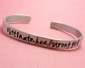 Pride & Prejudice Inspired - Obstinate, Headstrong Girl - A Hand Stamped Bracelet in Aluminum or Sterling Silver