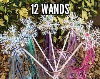 Frozen Party favors, Frozen Birthday, Frozen Wands, Snowflake Wands, Fairy Party Favors, Fairy Wands, Frozen Birthday Party, Frozen Favors