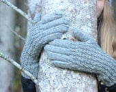 Hand Knitted Gloves, Gray Elegant Arm Warmers Gloves With Fingers, Fot Her, Gift Ideas, Winter Accessories, Fall Fashion Trends