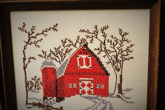 Red Barn Wall Decor : Barn wall decor handstitched hanging antique