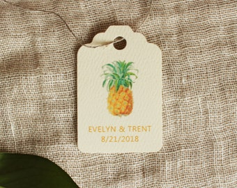 Pineapple Favor Tag Gift Tag Wedding Shower