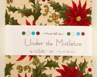 Under The Mistletoe Charm Pack by 3 Sisters for Moda