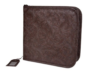 TIM HOLTZ TOOLeD LEATHeR BINDER for STAMPs  - Last One  ! Free Inserts Included !!