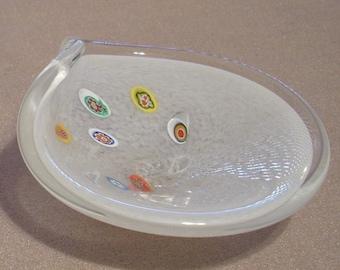 Free shipping! Millefiori Italian glass trinket dish