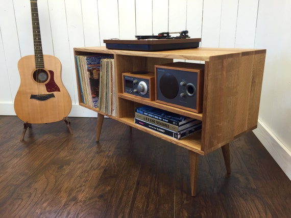 New Mid Century Modern Record Player Console Stereo By