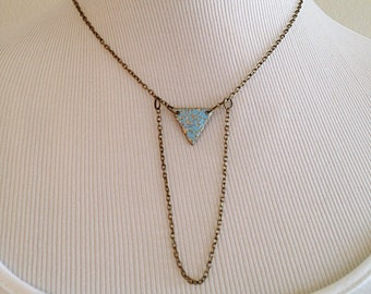 Sacred Geometry Mystical Triangle Necklace