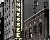 Historic Tennessee Theatre Sign Marquee Selective Color Landmark City Night Evening Knoxville Tennessee Americana Photographic  Print