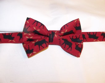 Men's Bowties - Bow Ties for Men - Moose Bow Tie - North Woods Bear - Men's Bow Tie - Maine Moose BowTie - Wildlife Bow Tie