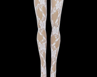 Pullip Doll - White Lace - Stockings - Leggings - Doll Clothes