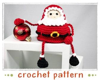Santa - Shelf Sitter - Crochet Pattern - PDF file