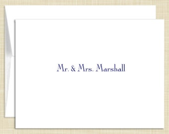 Personalized  Stationery - Personalized Stationary - Note Cards - set of 10  folded notecards - SIMPLICITY
