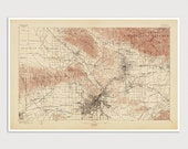 Old Los Angeles Map Art Print 1897 Antique Map Archival Reproduction - USGS Topographic Map