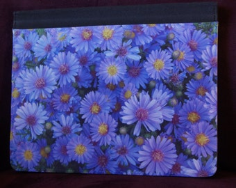 iPad case, tablet case, flower iPad cover, purple flower iPad case, mobile accessory, tablet cover, flower tablet case, iPad 2, 3, 4, aster