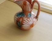 Mexican, mexico pottery, small vase, pitcher,