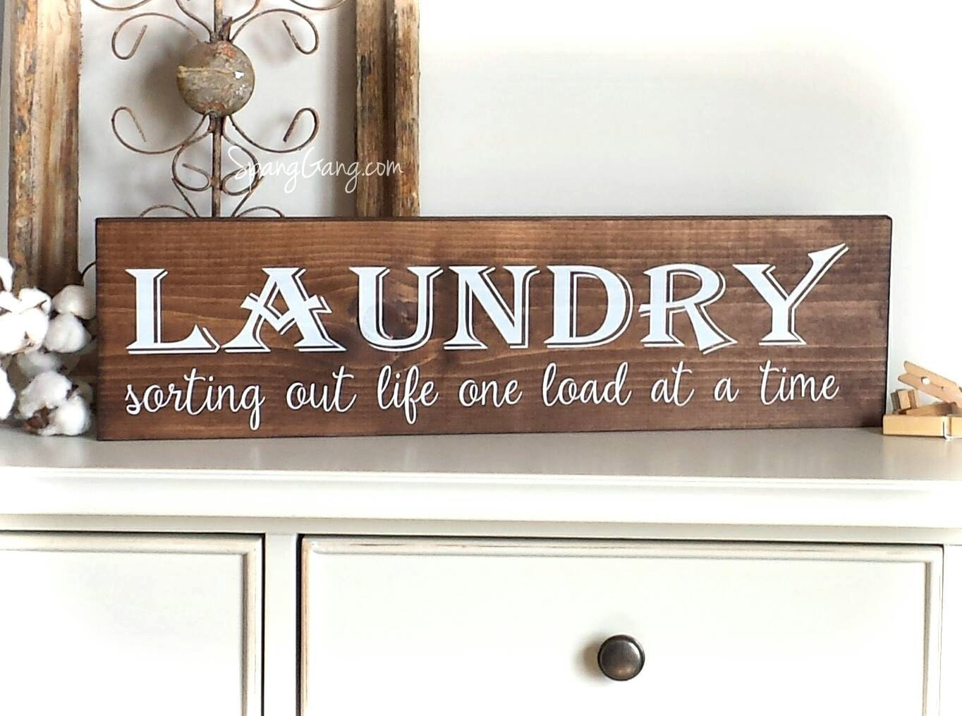 Laundry room decor farmhouse laundry sign laundry room for Room decor signs