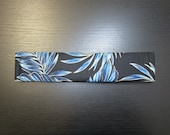 Seat Belt Cover, Hawaiian Fern / Black and Blue / FREE SHIPPING