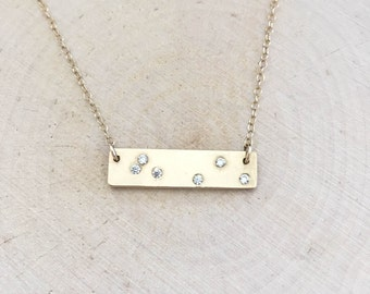 Scattered Stars Necklace-Bar