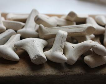 beach pottery kiln stilts white terracotta mobile wind chimes sun catchers supplies jewelry supply (st2)