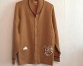Vintage Letterman Cardigan Sweater & Pin ~ 1962 ~ Viscounts