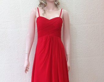 Red Bridesmaid Dress. Evening Dress.