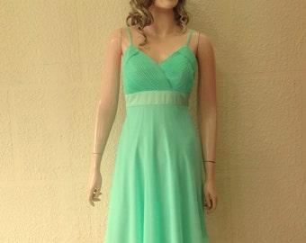 Dark Mint Bridesmaid Dress. Evening Dress.