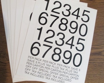 Two Inch Peel & Stick Numbers  20 Per Sheet  3 Sheets per order