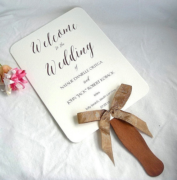 Wedding fans rustic wedding program fan rustic by allthingsangelas for Rustic wedding program fans