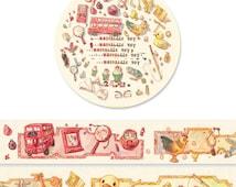 1 Roll Limited Edition Washi Tape: Nostalgic Toys