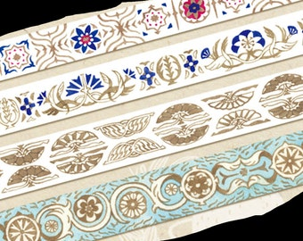 1 Roll of Limited Edition Washi Tape (Pick 1): Art Nouveau