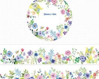 1 Roll Limited Edition Washi Tape:  Elegant Flower